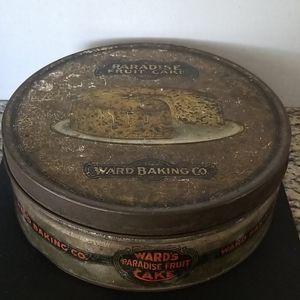 Vintage WARD'S Baking Co FRUIT CAKE tin